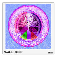 Peace Symbol in Rainbow Colors Wall Sticker