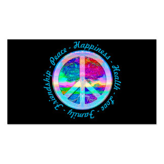 Peace Symbol in Rainbow Colors with Tree of Life Double-Sided Standard Business Cards (Pack Of 100)