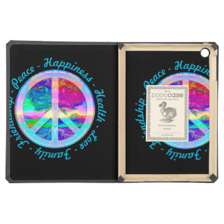 Peace Symbol in Rainbow Colors with Tree of Life iPad Air Case