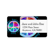 Peace Symbol in Rainbow Colors with Tree of Life Label (<em>$3.15</em>)