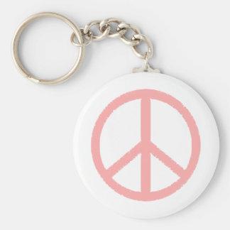 peace symbol key chain