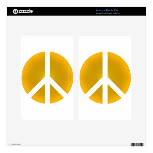 Peace_Symbol Kindle Fire Pegatina Skin