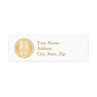 Peace Symbol Return Address Label