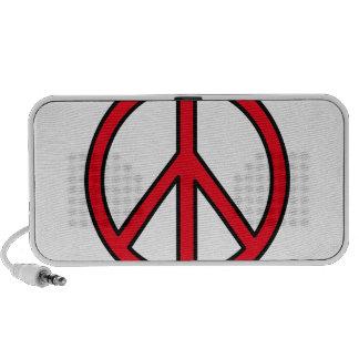 Peace Symbol Laptop Speakers