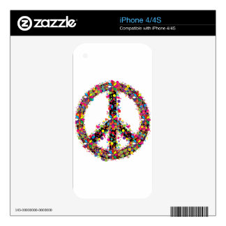 Peace symbol large skin for iPhone 4S