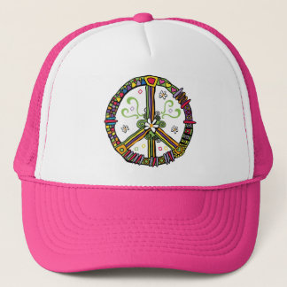peace symbol love trucker hat