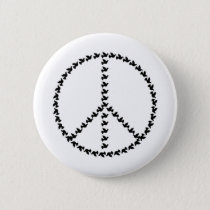 Peace Symbol Made from Many Peace Symbols Button