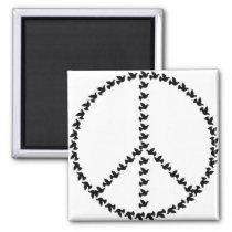 Peace Symbol Made from Many Peace Symbols Magnet