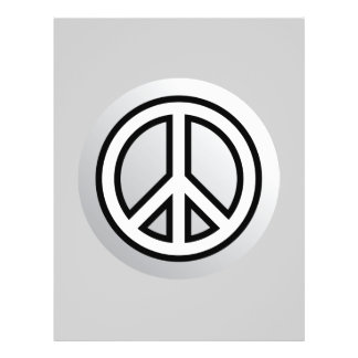 PEACE SYMBOL metallic silver grey gray black white Flyer