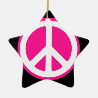 Peace Symbol Christmas Ornament