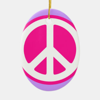 Peace Symbol Christmas Ornaments