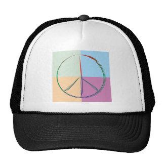 Peace symbol peace symbol mesh hat