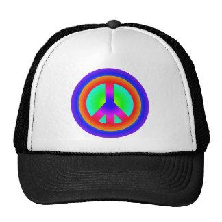 Peace symbol peace symbol trucker hat