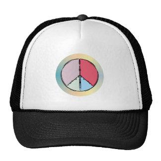 Peace symbol peace symbol mesh hats