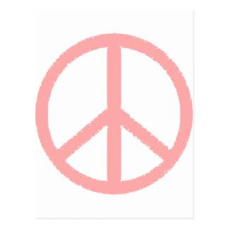 peace symbol postcard