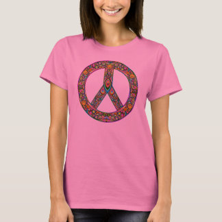 Peace Symbol Psychedelic Art Design t-shirt