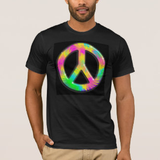 Peace Symbol Psychedelic Design T-Shirt