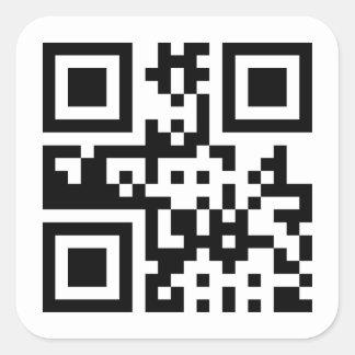 Peace ☮ Symbol -- QR Code Square Sticker