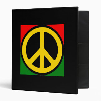 Peace Symbol Rasta Binder