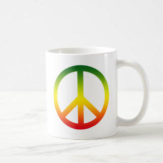 Peace Symbol Rasta Coffee Mug