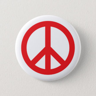 Peace Symbol - Red Button