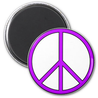 Peace Symbol Sign Love Hippie Anti War Protest 2 Inch Round Magnet