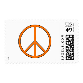 Peace Symbol Sign Love Hippie Anti War Protest Postage