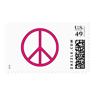 Peace Symbol Sign Love Hippie Anti War Protest Postage Stamp