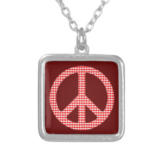 Peace Symbol Silver Plated Necklace