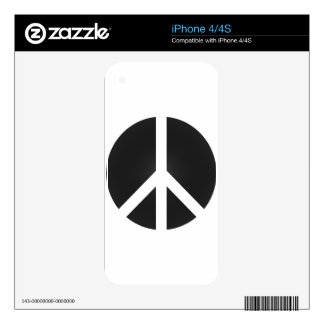Peace_Symbol Skin For The iPhone 4S