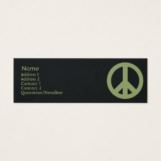 Peace Symbol - Skinny Mini Business Card