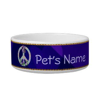 Peace Symbol Snake Bowl
