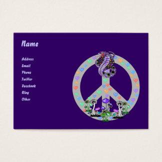Peace Symbol Snake Business Card