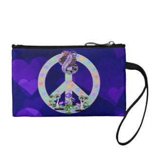 Peace Symbol Snake Change Purse