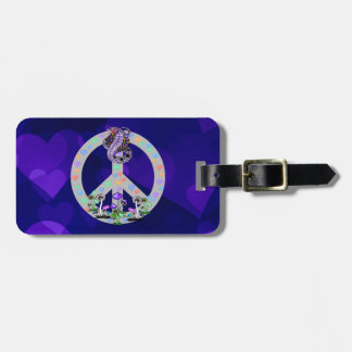 Peace Symbol Snake Tags For Luggage