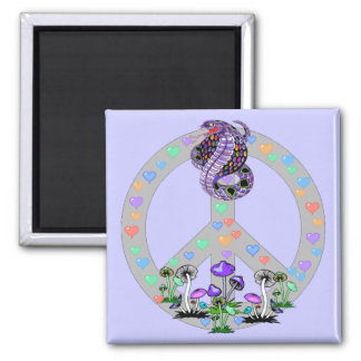 Peace Symbol Snake Fridge Magnet