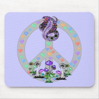 Peace Symbol Snake Mouse Pad