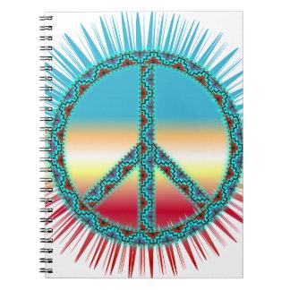 Peace Symbol southwest art Spiral Notebook