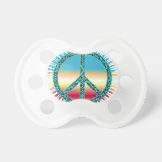 Peace Symbol southwest art BooginHead Pacifier