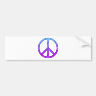 Peace Symbol Striped Pink Bumper Sticker