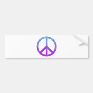 Peace Symbol Striped Pink Car Bumper Sticker
