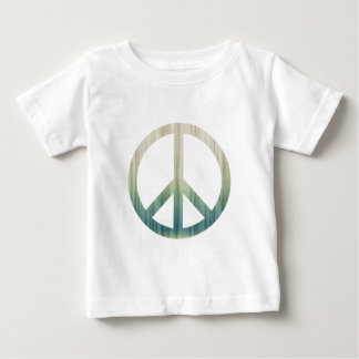 Peace Symbol Textured Pale Green and Blue T-shirts