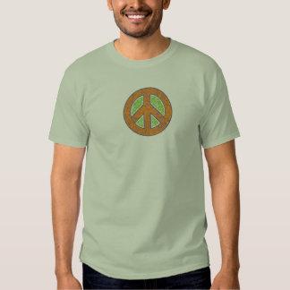 Peace Symbol textured print Shirt