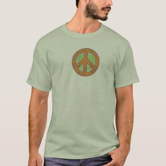 Peace Symbol textured print T-Shirt