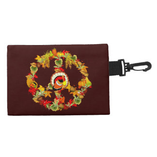 Peace Symbol Thanksgiving Turkey Accessory Bags