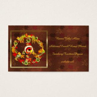 Peace Symbol Thanksgiving Turkey Business Card