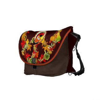 Peace Symbol Thanksgiving Turkey Courier Bag