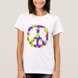 Peace Symbol Tie Dye Ink 3 T-Shirt