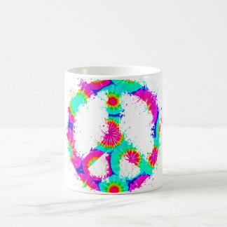 Peace Symbol Tie Dye Ink 4 Coffee Mug