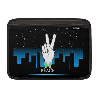 Peace Symbol with a City Background Sleeve For MacBook Air